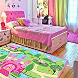 LELVA Cartoon Castle Girls Bedroom Rugs ...