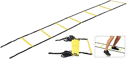 I-WIN Adjustable 6 Meters Agility Ladder Soccer Speed Fitness Feet Sport Training