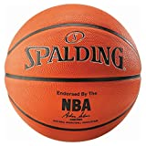 Spalding Unisex's NBA Basketball, Orange/Silver, Size 7