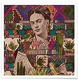 """JUNIQE® Poster 50x50cm Frida Kahlo - Design """"Viva La Vida"""" (Format: Quadrat) - Bilder, Kunstdrucke & Prints von unabhängigen Künstlern entworfen von Kris Tate"""