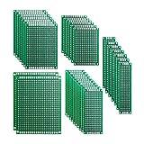 Haobase - Kit de prototipos de placa de doble cara, 32 unidades, 5 tamaños, universal, para soldar y proyectos electrónicos