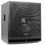 """Vexus SWP15 PRO Aktiv-PA-Subwoofer Lautsprecher-Box (38 cm (15""""), 400W max., mit integr. Verstärker, XLR, Bassreflex-Bauweise) schwarz"""