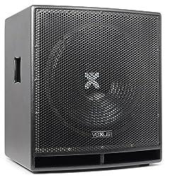 """Vexus SWP15 PRO Aktiv-PA-Subwoofer Lautsprecher-Box (38 cm (15""""), 400W max, mit integr. Verstärker, XLR, Bassreflex-Bauweise) schwarz"""