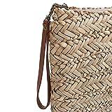 SKPAT - 09507 Neceser de playa, bolsa de aseo de rafia. Cierre con - Best Reviews Guide