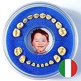 Scatolina per Denti da Latte --- Firsty Round --- (Blu, Ragazzo) ABF Italiano