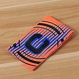 Bracciali capitano Leaftree Per la squadra di football e rugby professionista, black & green & blue & orange