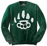 Bear Knuckle Brawlers -  Felpa - Uomo Verde - Kelly Green X-Large
