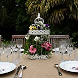 Jaula grande para pájaros, ideal para decoración, bodas, 29 cm