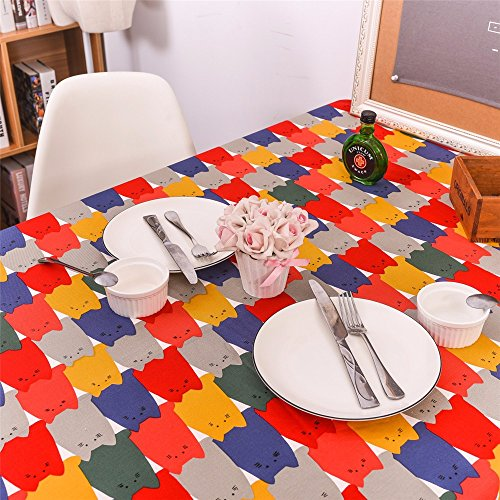 YFF@ILU Home deco Antik minimalistischen Hochzeit/Picknick/Geburtstagsparty, Küche, runde/eckige, Restaurant, Fabric, Abdeckungen, Tisch, Tischdecke, 24*24-Zoll (60 * 60 cm) Zwei