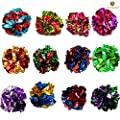 SunGrow Mylar Crinkle Balls for Cats, 1.5 - 2 Inches, Shiny and Stress Buster Toy, Lightweight and Suitable for Multiple Cats' Play, Hours of Entertainment, 12 Pieces by Luffy Pets Collection