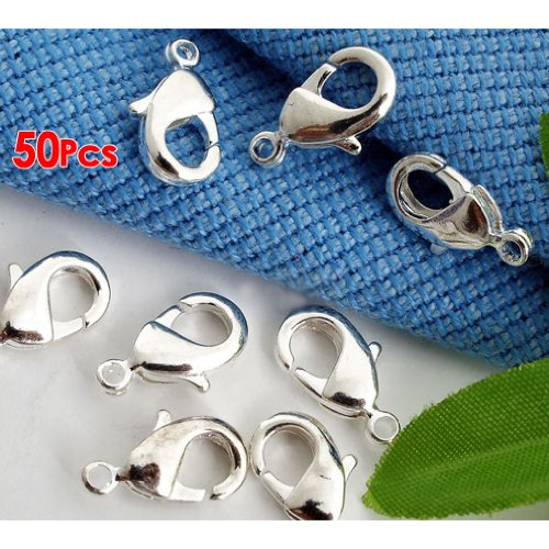 toogoor-packet-of-50-x-silver-plated-strong-quality-lobster-clasps-10mm-x-6mm-ha02130
