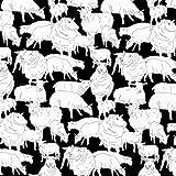 Nutex Schaf Stoff–Schaf schwarz–nu110–von