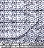 Soimoi Azul popelina de algodon Tela Men & Palo de hockey tela de camisa tela...