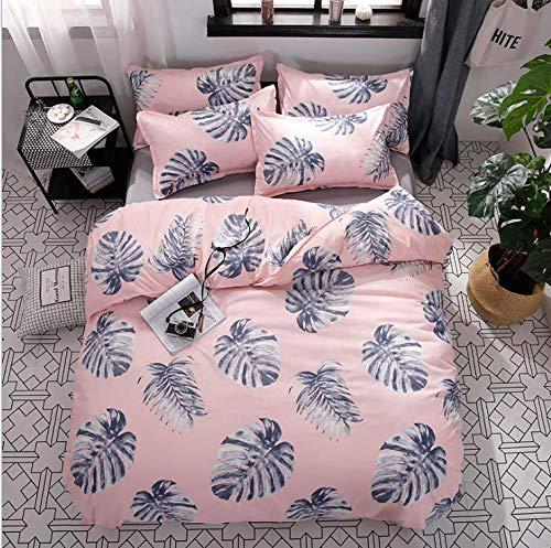 SHJIA Bettwäscheset Unterwäsche Bettdecken Bettbezüge Doppel Erwachsene Bettlaken Set Euro Tagesdecke Königin König Bettwäscheset Rosa 150x200cm (Kaufen Sie High Monster)
