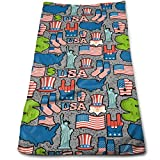 """WITHY Statue of Liberty and Uncle Sam Super Soft Polyester Extra-Absorbent Bath Towel Hand Towel Hair Towel 11.8"""" X 27.5"""""""