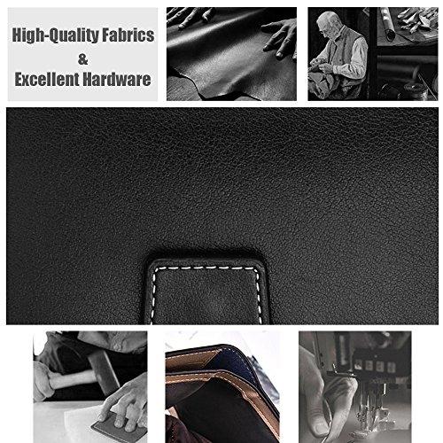 iVotre Vertikalschnitt Blisterkarte Brieftasche Mit Snap &Amp; Reißverschluss - Schließung, Multi - Card Slots, Bild - Inhaber, Münze Tasche, Funktional Lässig Handtasche Für Männer - Purplishblue purplish blue
