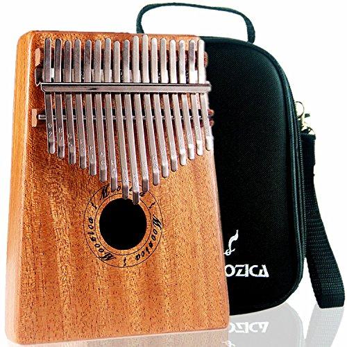 Moozica Mahagoni Ton Holz 17 Schlüssel Kalimba, High Qualität Professionelle Finger Daumen Piano Musikinstrument Geschenk