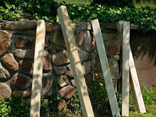 Seifil M234582 - Poste de madera valla clasica 9 x 9 x 80 cm