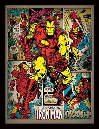 Robert E Lee Für Kinder - Pyramid International Iron Man (Retro) 30x40