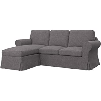 Amazon De Soferia Bezug Fur Ikea Ektorp 2er Sofa Mit Recamiere