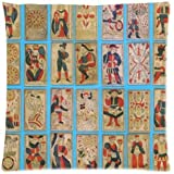 Tarot Cards Throw Pillow Case Decorative Cushion Cover Pillowcase Standard Size 18x18 inch (one side) Zippered for Sofa