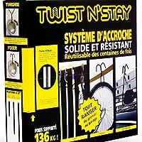 TWIST N' STAY ® Sistema di Ganci per Appendere ed Attaccare Magicamente - fino a 136kg