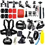 Iextreme Kit de accesorios 45-en-1 para cámara deportiva GoPro Hero 4 3 + 3 2 1, Xiaomi Yi, SJ4000 SJ5000 SJ6000