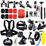 Accessories Best Deals - Iextreme 45 in 1 Accessori Kits per Gopro Hero 5 4 3+ 3 2 1 SJ4000 SJ5000 SJ6000 Azione la Fotocamera Accessories per Sport Esterno-Floating Grip+Head Strap+Chest Strap+Octopus Tripod+Selfie Stick.