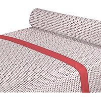 DAGOSTINO HOME Juego de Sabanas para cama de 90, Diseño Kilia Salon, Composicion, 50% Poliester/50% Algodón, Compuesto por Funda de almohada, Encimera y Bajera.