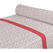 DAGOSTINO HOME Juego de Sabanas para cama de 150, Diseño Kilia Salmon, Composicion,