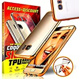 Access-Discount *** INCASSABLE *** Etui Housse SAMSUNG GALAXY A5 2017 coque Silicone Bumper de protection INVISIBLE & INRAYABLE Transparente & OR pochette TPU pour Smartphone A 5 7 sm A520F 17 or 4G