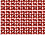 Piedras brillantes autoadhesivas, 234unidades, 5 mm, estrás adhesivo rojo