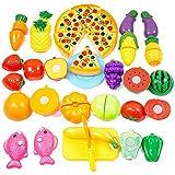 Ateid Set 24 Vegetal Fruta Pizza de Juguete para Cortar