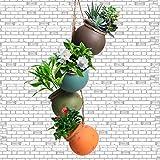 4 Stück Hängepflanztopf, Blumenampel Innen, Blumentopf Pflanzen Halter, Pflanzenhalter Für Innen Außen Decken Balkone Wanddekoration