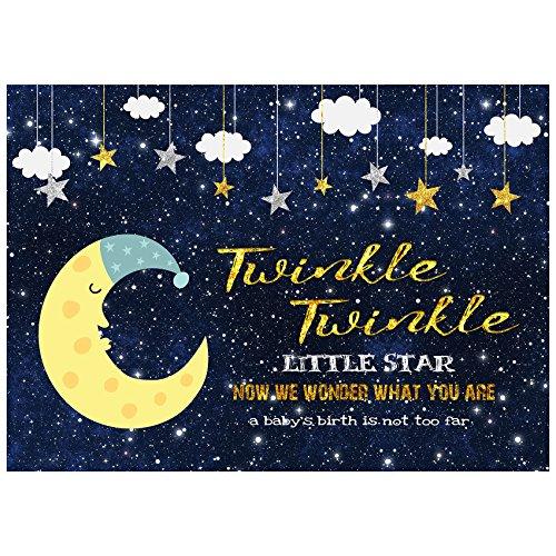 musykrafties Twinkle Twinkle Little Star Baby große Dusche Banner Geschlecht Reveal Party Hintergrund Dekoration Dessert Tisch Hintergrund 7x 5Fuß (Twinkle Little Star Baby-dusche Dekorationen)