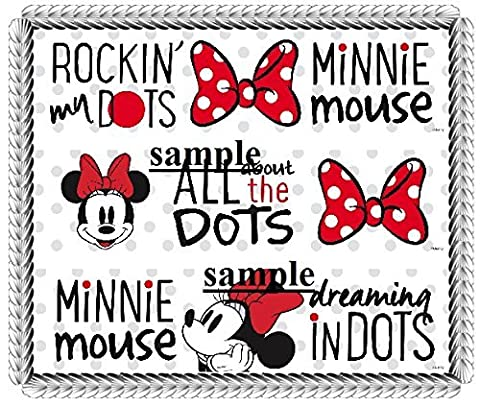 Vintage Minnie Mouse Designer Strips Edible Cake Border Design Toppers by Kopykake