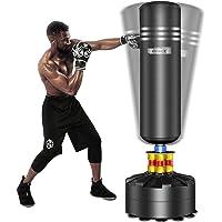 Dripex Sac de Frappe sur Pied Adulte, 175 cm Sac de Boxe Lourd pour Taekwondo, avec Base en ABS, 12 Ventouses, Idéal…