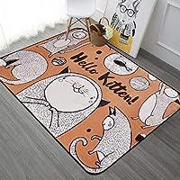 Alfombra de baño antideslizante INICIO Caricatura abstracta animal piso alfombrilla de entrada entrada puerta alfombra sala