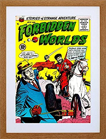 SUPER HERO COVER ACG BOOK FORBIDDEN WORLDS 57 VINTAGE COMIC FRAMED ART PRINT PICTURE MOUNT F12X1140