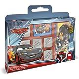Noris 606317823 Disney Cars - Juego de 7 sellos para colorear con maletín