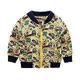 Quaan Herbst Winter Jacke Niedlich Monster Baby Oberbekleidung Mantel Jungen Mädchen Kinder Kleidung Mantel warm gemütlich Baumwolle Charakter Mantel Kleiner Anzug Outwear Weste Mantel