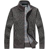 Nuevo invierno más el tamaño para hombre suéteres hombres de manga larga de lana gruesa chaqueta de punto de los hombres suéter chaqueta ocasional de punto suéter ropa