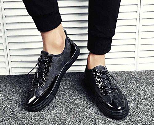 Zapatos Planos Casuales De Los Hombres 2017 Otoño Entrenadores Ligeros Transpirable Zapatos De Viaje Al Aire Libre Negro Azul