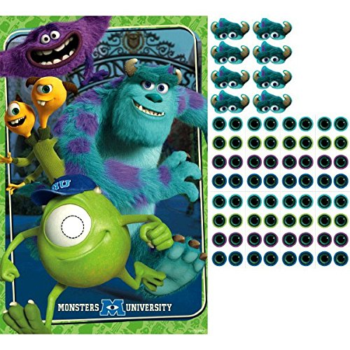 Amscan Monster-Mazing Disney Monsters University Birthday Party Game (4 Piece), Multicolor, 25 x 37 by Amscan (Party University Monster Supplies)