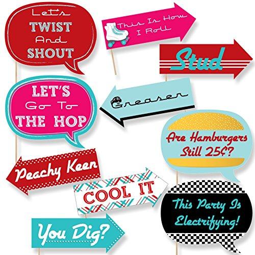 (Funny 50Socke Hop–Photo Booth Props Kit–10Stück)