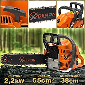 Benzin-Motorsge-3-PS-Motorkettensge-Kettensge-DEMON-Benzinsge-55cm3-CS-58T