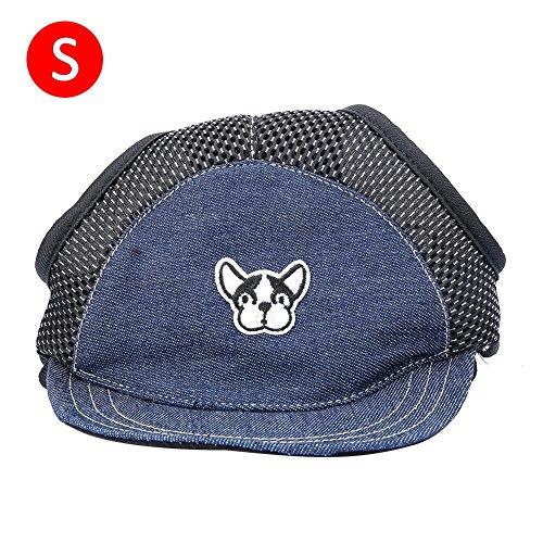 (Hundehut Baseball Cap Haustier Hunde Hüte Ohr-Löcher Verstellbarem Oxford Tuch Baseballmütze Atmungsaktiver Sonnenhut für Kleine Hunde oder Katzen)