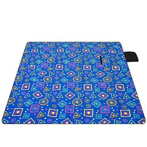 Picknickdecken Wasserdicht sichern Outdoor Teppich Matte Strand Picknick Teppich Matte Pet Decke Kind Spielteppich, 200 * 200 cm, E (Blättern Indoor-outdoor-teppich Sie)