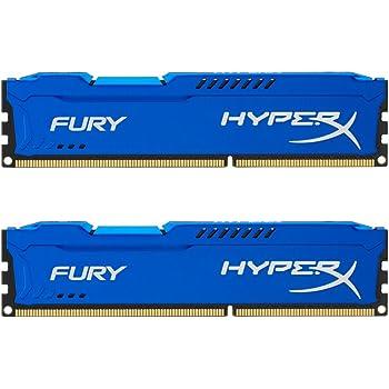 Kingston HyperX Fury HX316C10FK2/16 Arbeitsspeicher 16GB (1600MHz, CL10, 2 x 8GB) DDR3-RAM Kit blau