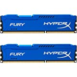 HyperX HX318C10FK2/16 Fury 16 GB (2 x 8 GB), 1866 MHz, DDR3, CL10, UDIMM, 1.35V, Blu